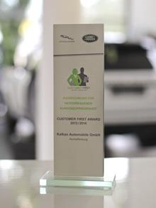 Customer First Award 2013/2014
