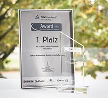 1. Platz beim TÜV Rheinland-Award 2015