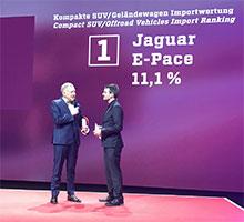 """Doppelsieg für Jaguar Land Rover bei der Leserwahl """"Best Cars 2019"""" von auto motor und sport"""